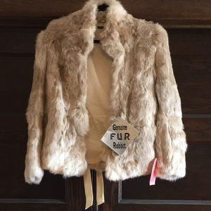 NWT Genuine Rabbit Fur Jacket